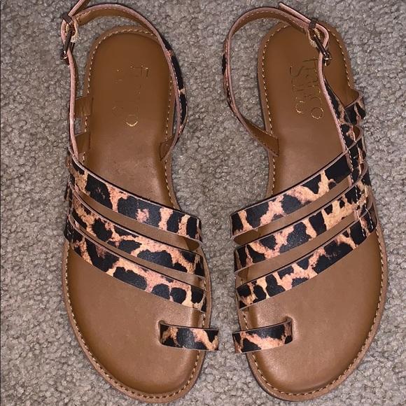 New Franco Sarto Leopard Print Sandals
